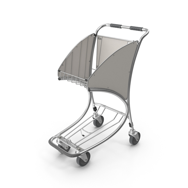 Airport Trolley Cart Empty PNG & PSD Images