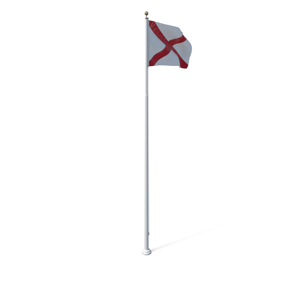 Alabama State Flag Object
