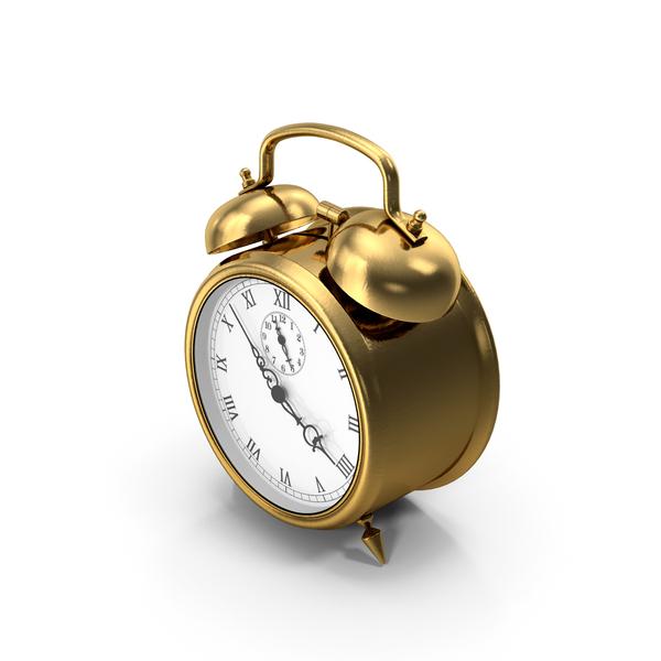 Alarm Clock Gold PNG & PSD Images