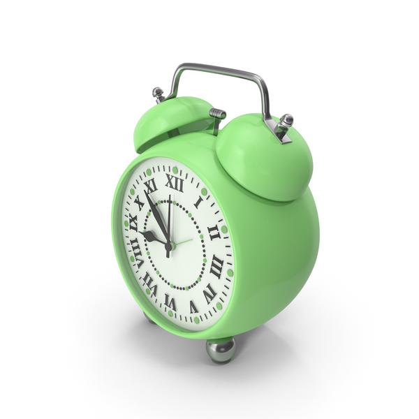 Alarm Clock Green PNG & PSD Images