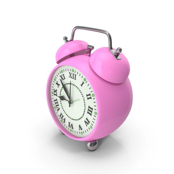 Alarm Clock Pink PNG & PSD Images