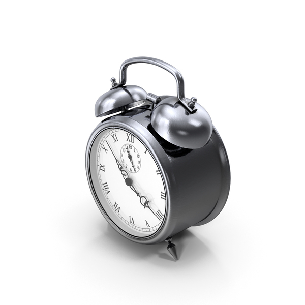 Alarm Clock Silver PNG & PSD Images
