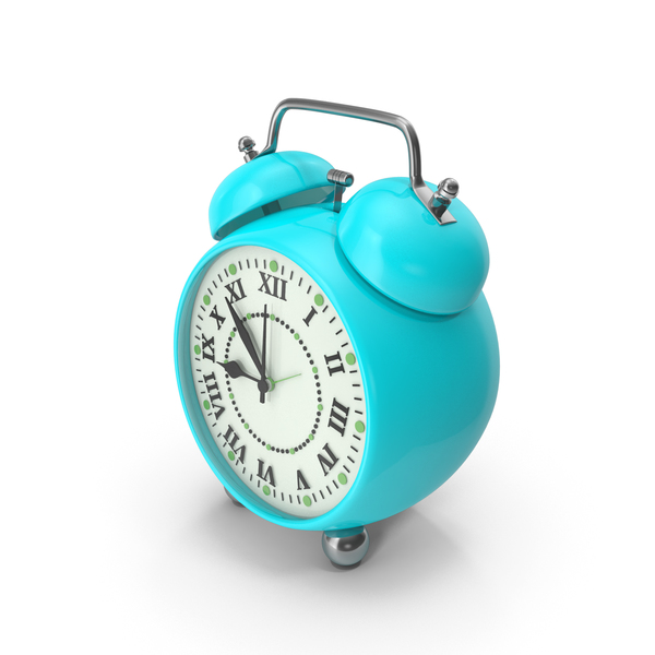 Alarm Clock Turquoise PNG & PSD Images