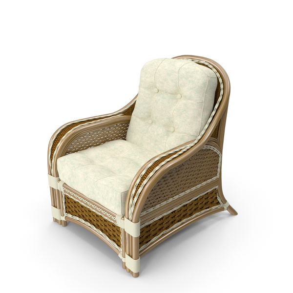 Albany Rattan Armchair PNG & PSD Images