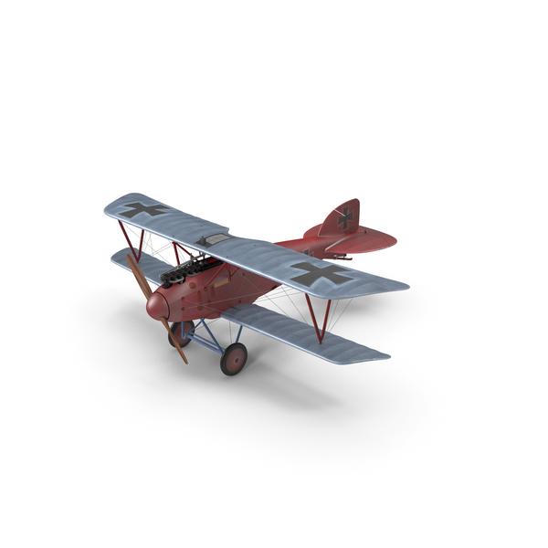 Military Biplane: Albatros D.III Mandfred von Richthofen PNG & PSD Images