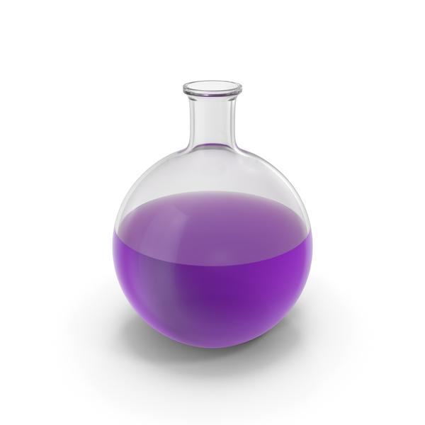 Alchemical Flask Big Violet PNG & PSD Images