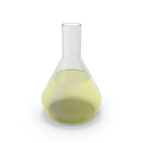 Alchemical Flask Medium Yellow PNG & PSD Images