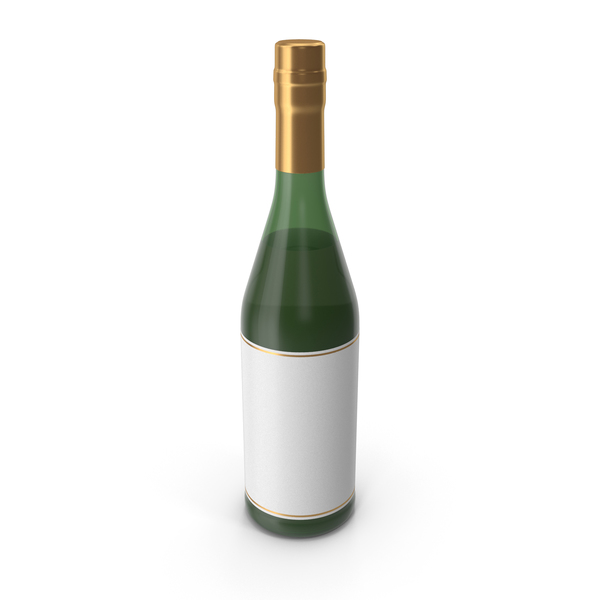 Alcohol Bottle Gold PNG & PSD Images