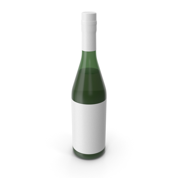 Alcohol Bottle White PNG & PSD Images