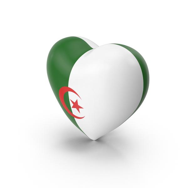 Algeria Heart Flag PNG & PSD Images