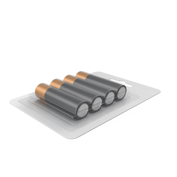Alkaline Battery 4 Pack PNG & PSD Images