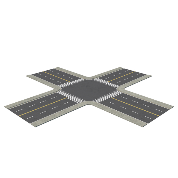 All-Way Street Intersection PNG & PSD Images
