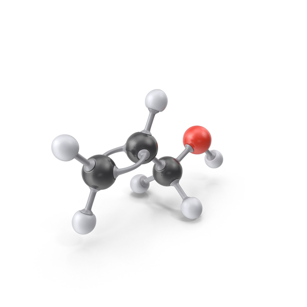 Allyl Alcohol Molecule PNG & PSD Images