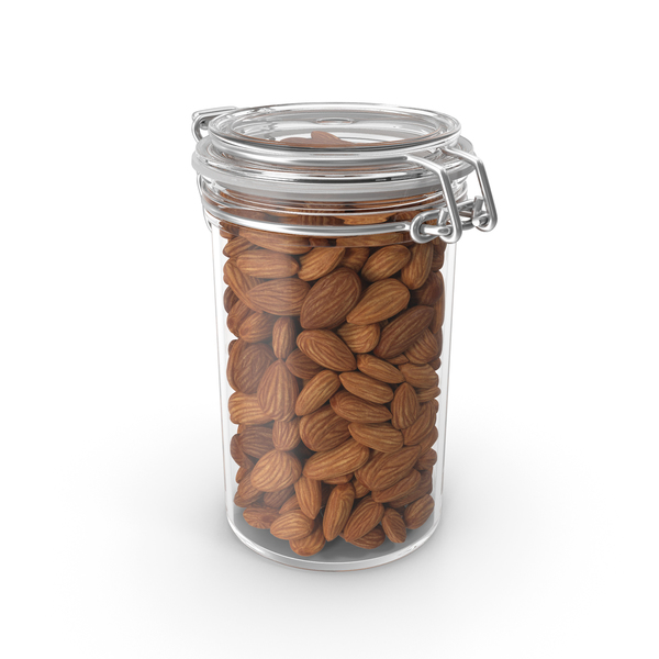 Almond Nuts in a Glass Jar PNG & PSD Images