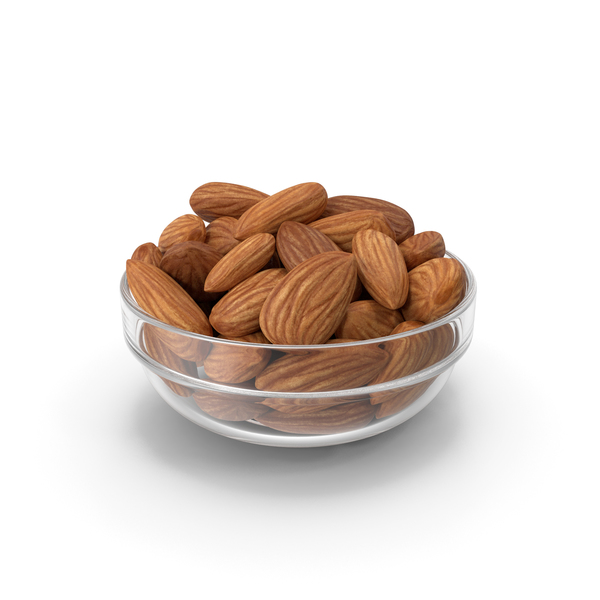 Almonds in Glass Bowl PNG & PSD Images