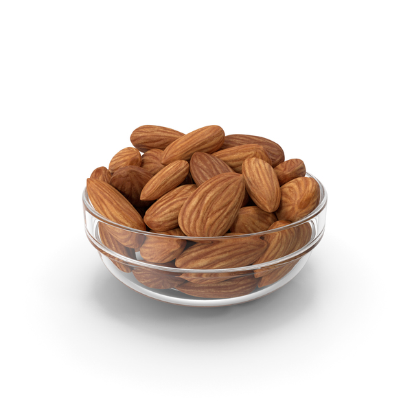 Almond: Almonds in Glass Bowl PNG & PSD Images
