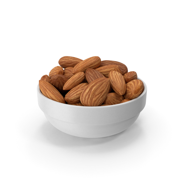 Almonds in White Bowl PNG & PSD Images