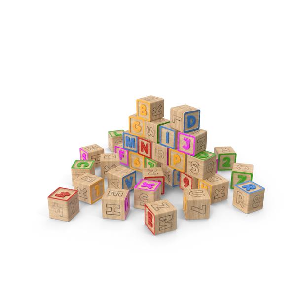 Alphabet Blocks PNG & PSD Images