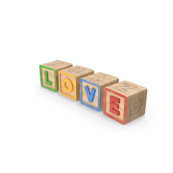 Alphabet Blocks Love PNG & PSD Images