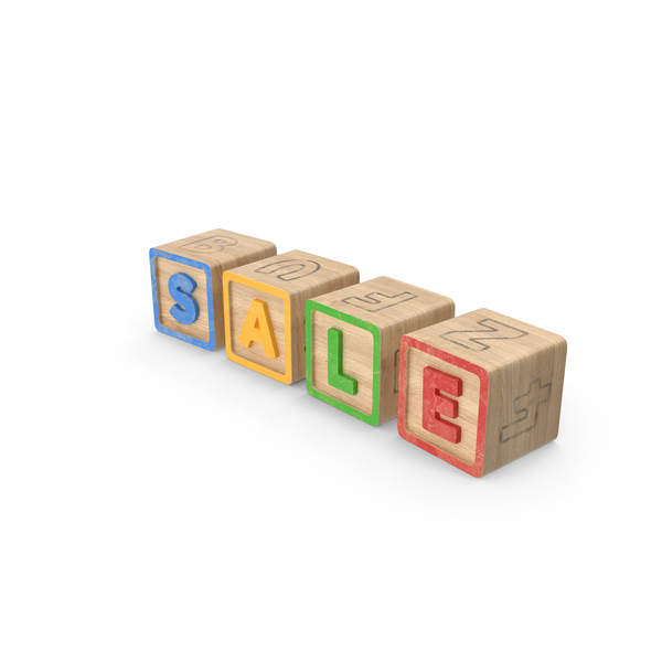 Alphabet Blocks Sale PNG & PSD Images