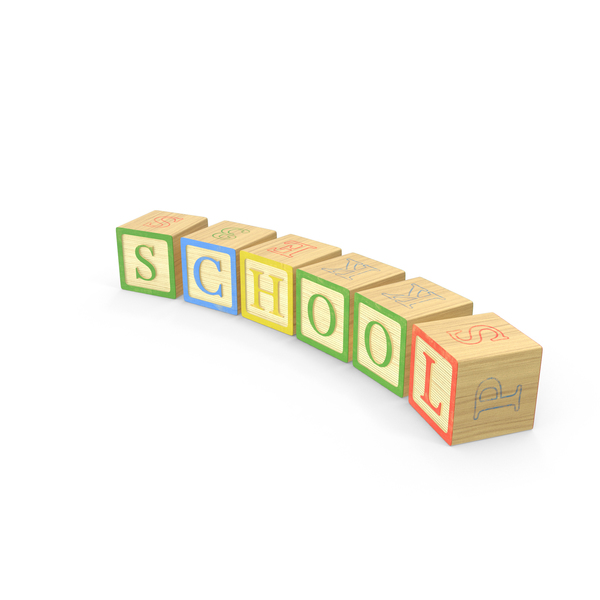 Alphabet Blocks School PNG & PSD Images