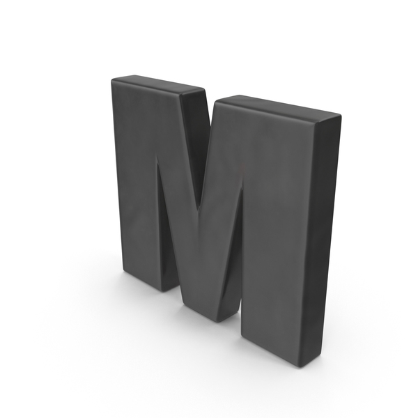 Alphabet Fridge Magnet M Object
