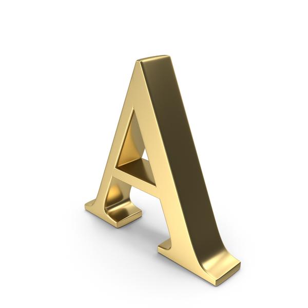 Alphabet Time's Roman A PNG & PSD Images