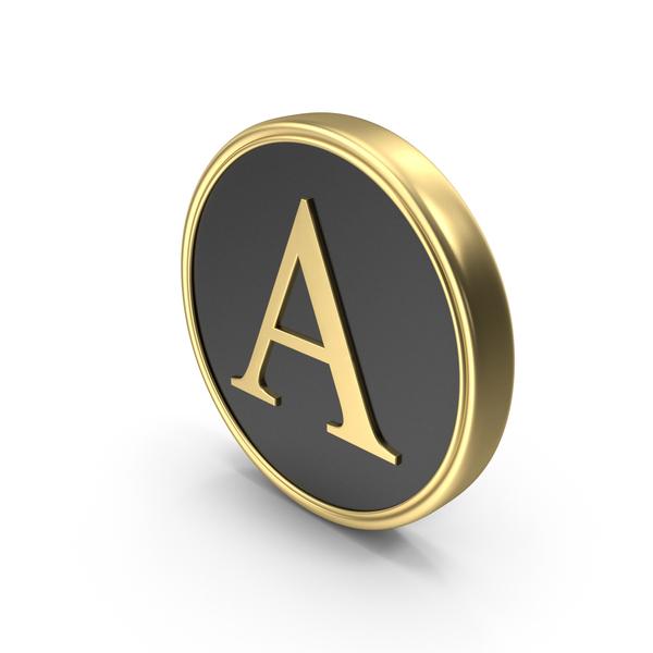 Alphabet Time's Roman Coin A PNG & PSD Images