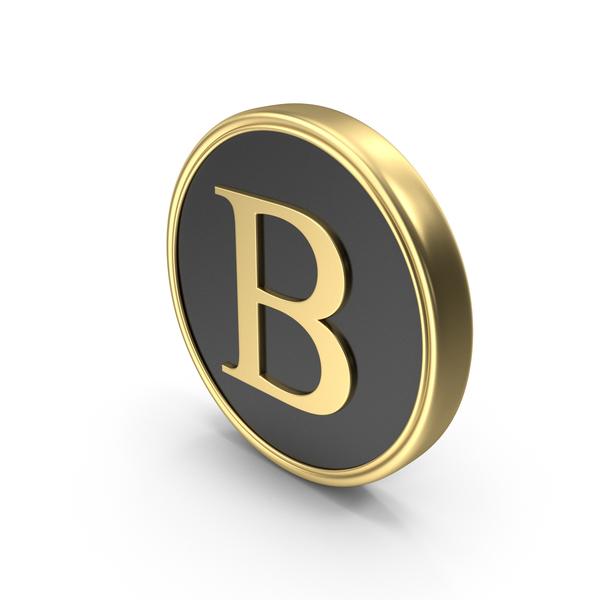 Alphabet Time's Roman Coin B PNG & PSD Images