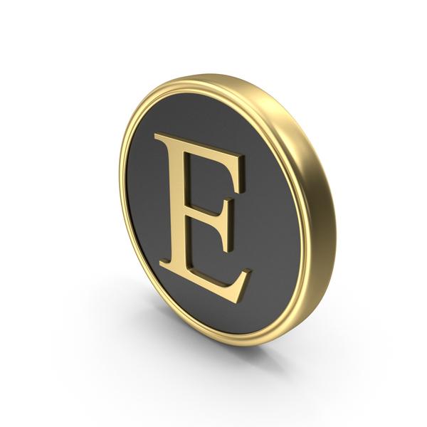 Alphabet Time's Roman Coin E PNG & PSD Images