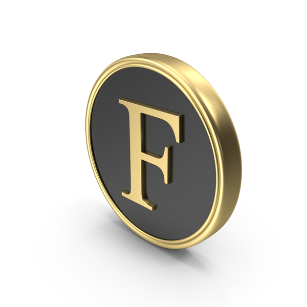 Alphabet Time's Roman Coin F PNG & PSD Images