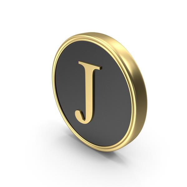 Alphabet Time's Roman Coin J PNG & PSD Images
