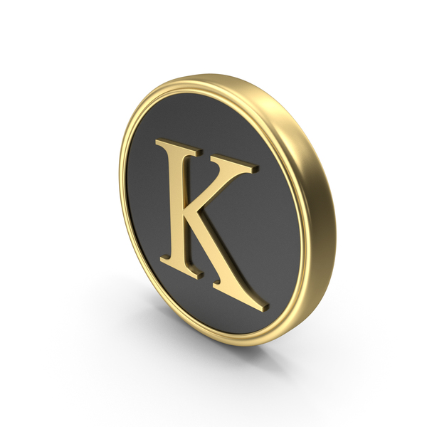Alphabet Time's Roman Coin K PNG & PSD Images