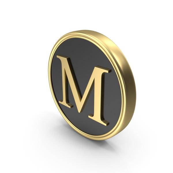 Alphabet Time's Roman Coin M PNG & PSD Images