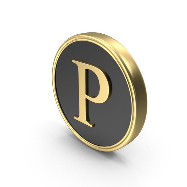 Alphabet Time's Roman  Coin P PNG & PSD Images