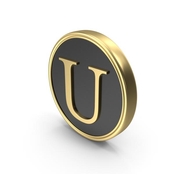 Alphabet Time's Roman Coin U PNG & PSD Images