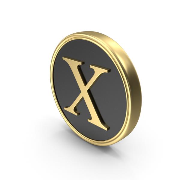 Alphabet Time's Roman Coin X PNG & PSD Images