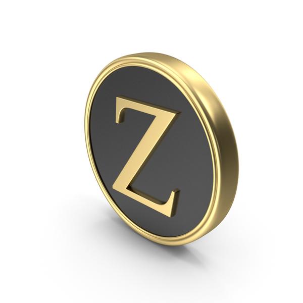 Alphabet Time's Roman Coin Z PNG & PSD Images