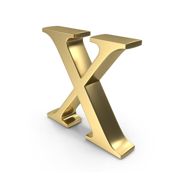 Letter: Alphabet Time's Roman X PNG & PSD Images
