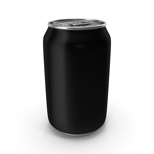 Aluminum Can 330ml Black PNG & PSD Images