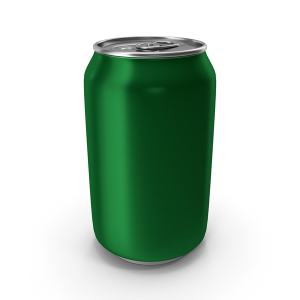 Aluminum Can 330ml Green PNG & PSD Images