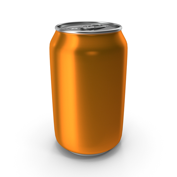 Aluminum Can 330ml Orange PNG & PSD Images