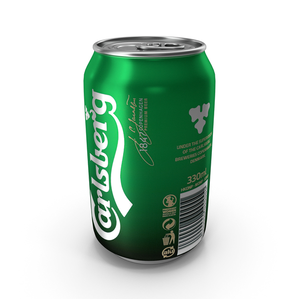 Aluminum Can Carslberg PNG & PSD Images