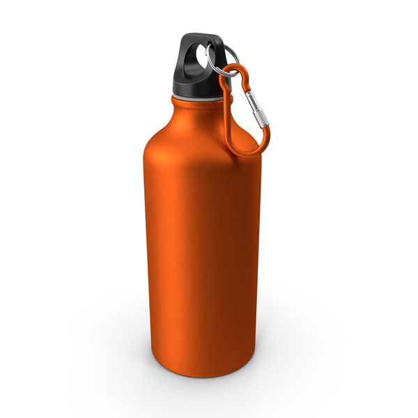 Aluminum Water Bottle 600ml PNG & PSD Images
