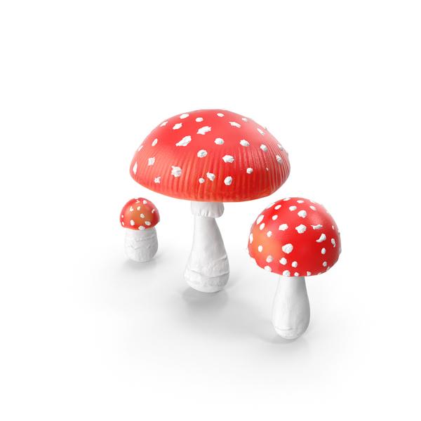 Amanita Mushrooms Set PNG & PSD Images