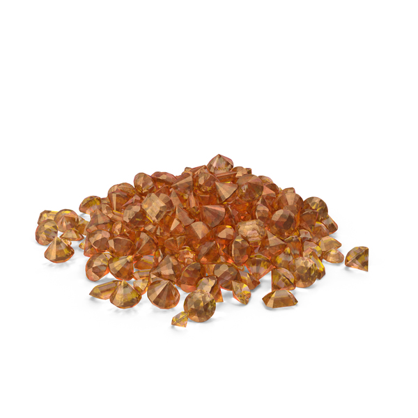 Amber Diamonds Pile PNG & PSD Images