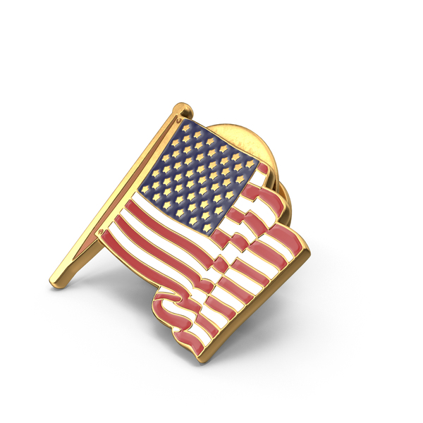 American Flag Pin Object