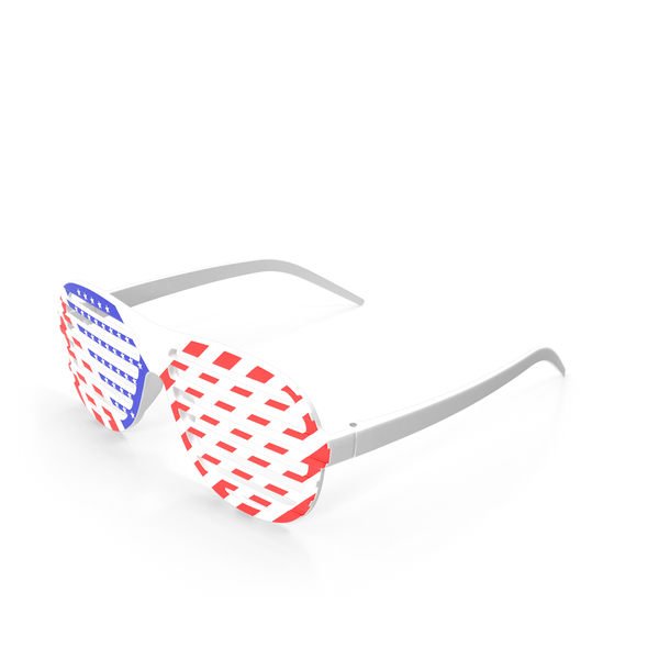 American Flag Shutter Sunglasses PNG & PSD Images