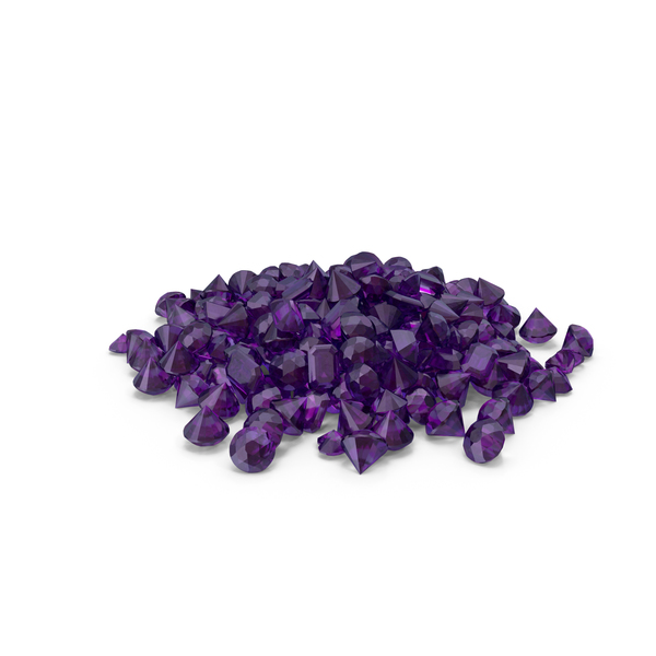 Amethyst Diamond Pile PNG & PSD Images