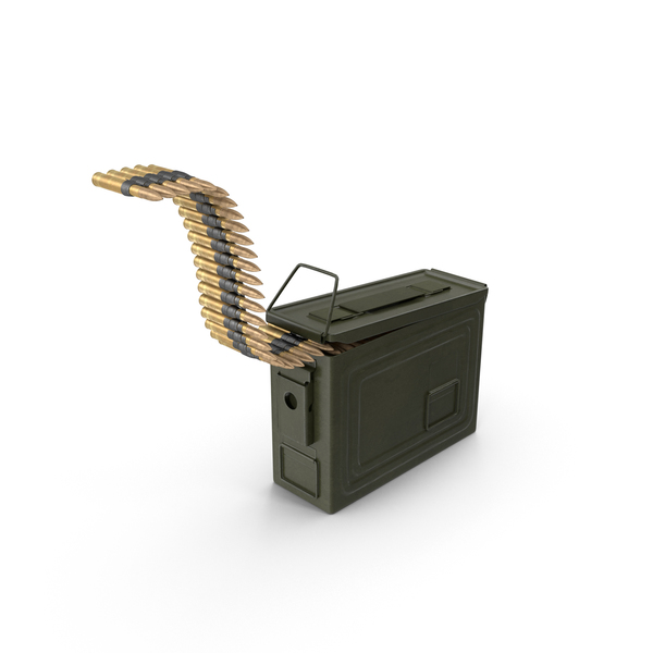 Ammunition Box with Belt PNG & PSD Images